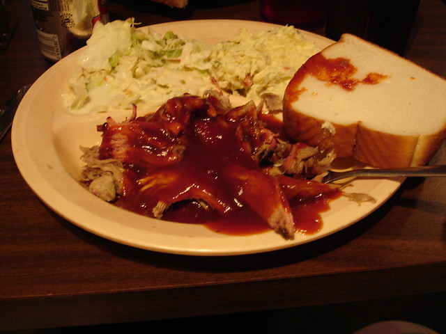 Barbecue Plate with Cole Slaw and Potato Salad, The Brick Pit, Mobile AL