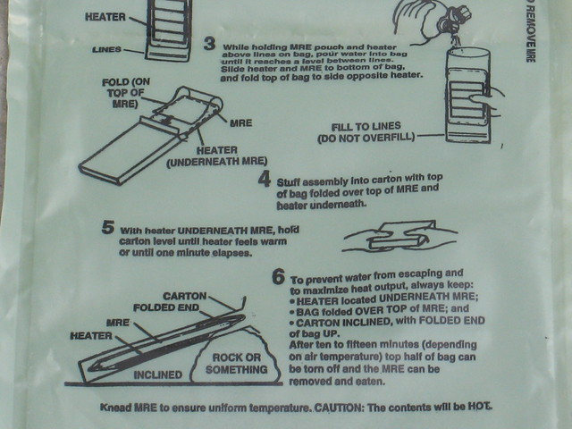 MRE Heater Instructions | Flickr - Photo Sharing!
