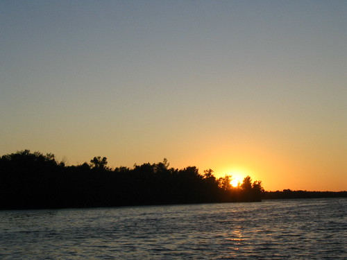 july 2005 presqueisle michigan grandlake sunset