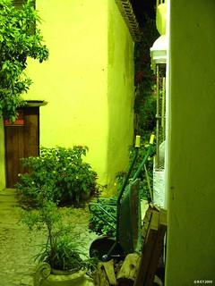 Obrázek Castillo de Castellar. gapito andalucia andalusia españa spain castellardelafrontera castellar castillo noche night calle street pueblo puebloandaluz village