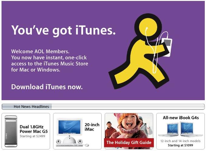 iTunes Music Store - 2003