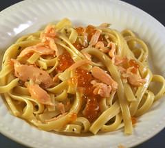 Pasta with Salmon Caviar