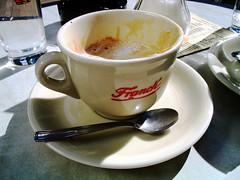 meal(0.0), breakfast(0.0), food(0.0), dish(0.0), affogato(0.0), caff㨠americano(0.0), espresso(1.0), cappuccino(1.0), cup(1.0), caf㩠au lait(1.0), coffee(1.0), caff㨠macchiato(1.0), drink(1.0),