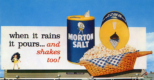 "Morton Salt ""3-D"" Billboard, 1960's"