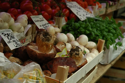 Genoa's market - yummy porcini mushrooms