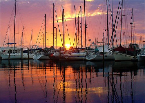 morning marina sunrise reflections boats bravo florida titusville abigfave perfectangle