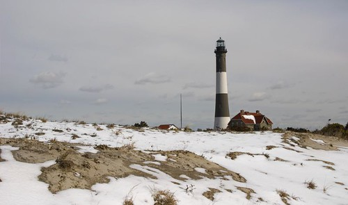 Snowy Fire Island by Alida's Photos