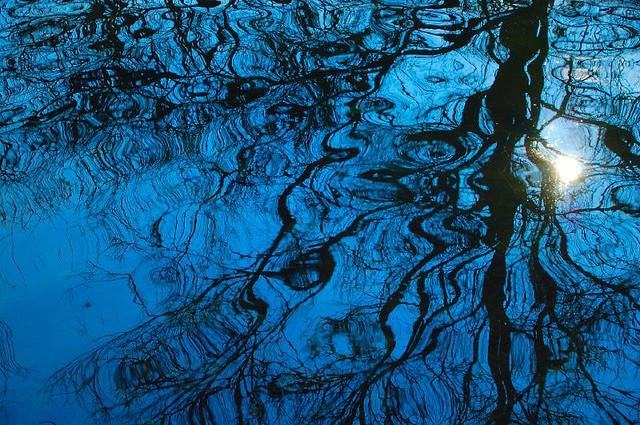 Blue ripples.