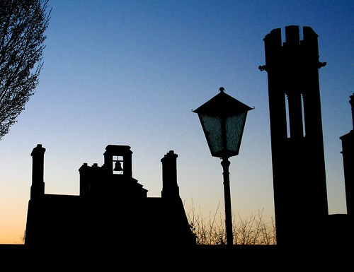 morning ireland irish silhouette sunrise dawn hotel estate manor adare