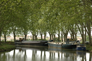 Barges on the Canal du Midi at Argeliers 2
