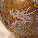 Jar with Dragons and Religious Personages Satsuma stoneware with signature of Fusan (2)
