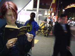 Reading Adorno at Oyamadai station. October 2003