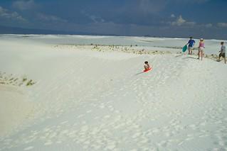 Sand Sledding - Julie