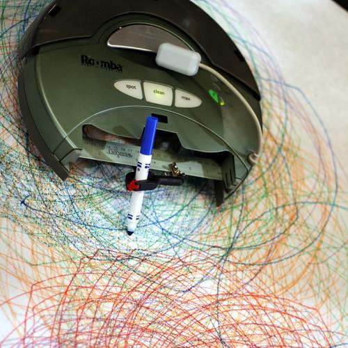 Roomba hack: Spirograph!