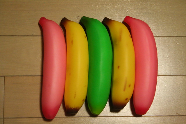 Rainbow bananas