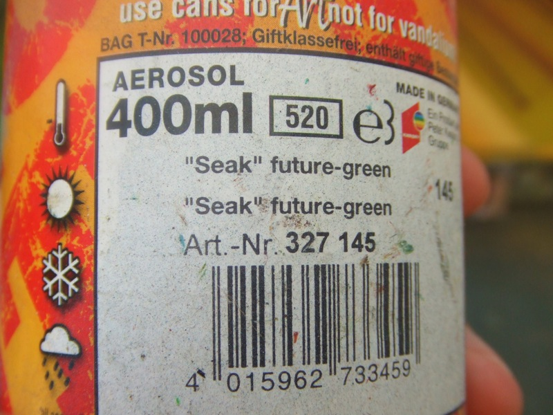 seak`s signature spraycan: futuregreen