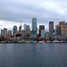 Seattle waterfront at dusk by bumeister1