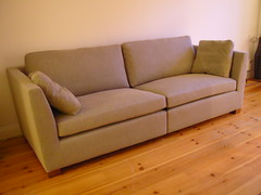 floor, furniture, loveseat, room, sofa bed, living room, couch, studio couch, hardwood,