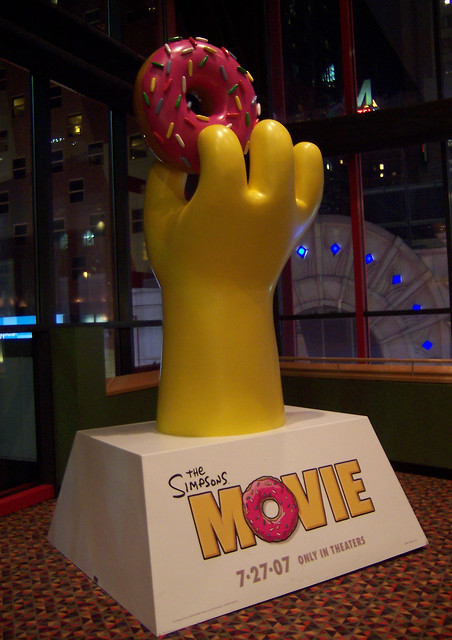 Simpsons Movie Standee Flickr Photo Sharing
