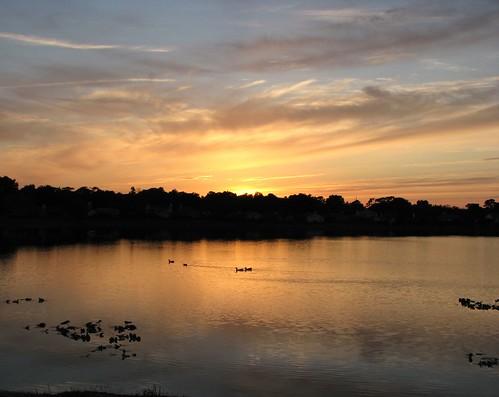 sunset sun lake reflection set calm soe 1on1 supershot flickrphotochallenge searchandreward