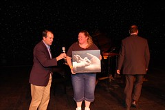 Susan Chambers receives gift from Rich Bott