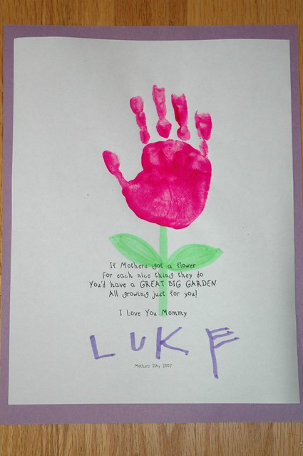 lukie preschool project for mother 39 s day 2007 flickr