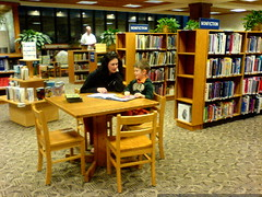 rachel reading to nick in the children's library   D…