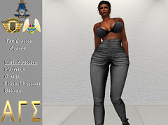 AGS INC. Womens HighJeans With Appliers