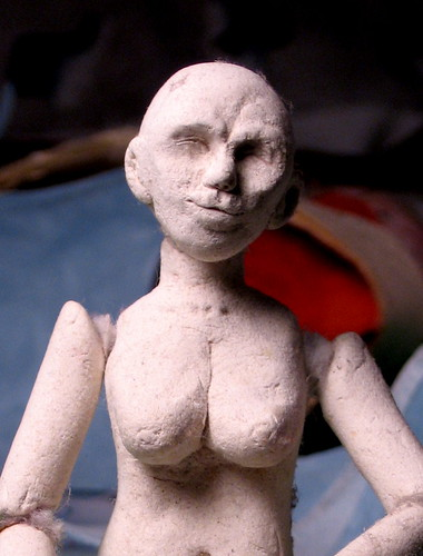 tiny clay lady