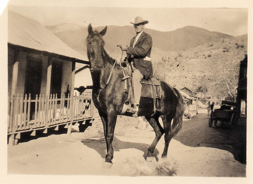 vintage: great-grandfather on horse