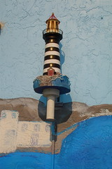 Lamp in the shape of Anclote Lighthouse