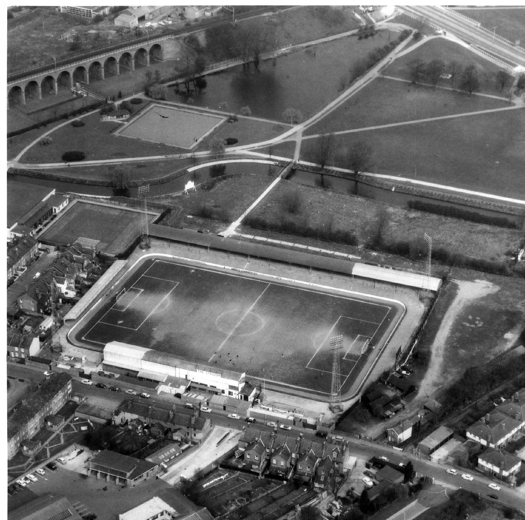Chelmsford City F.C. The New Writtle Street Ground in 1967.