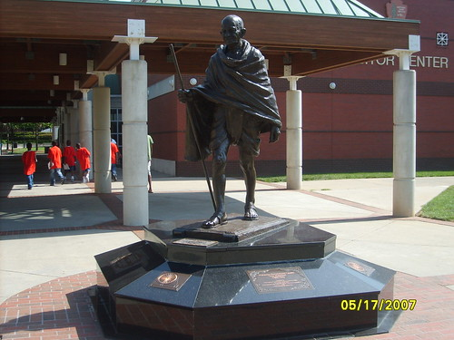 Mahatma Gandhi statue at Dr. Martin Luther King Center in Atlanta, GA