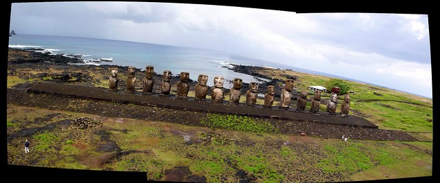 KAP on Tongariki - Easter island