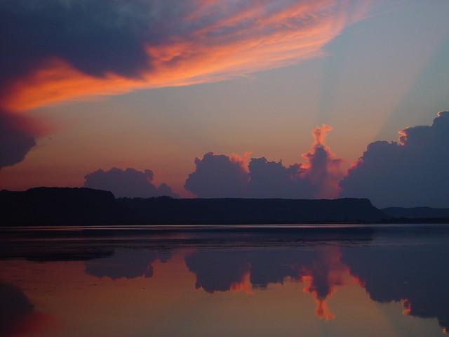Sunset over Lake Onalaska & the Mississippi River