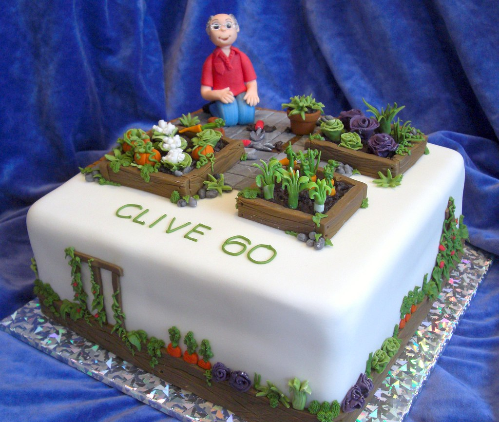 Clive's vegetable garden cake ~ stressful for all the ...