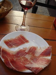 jamã³n serrano, meat, salt-cured meat, ham, kobe beef, prosciutto, food, dish, cuisine, cooking, lamb and mutton, animal fat,