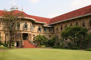 Image of Vimanmek Mansion near Bangkok. bangkok mansion teak