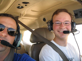 Post-solo, the happy student and instructor