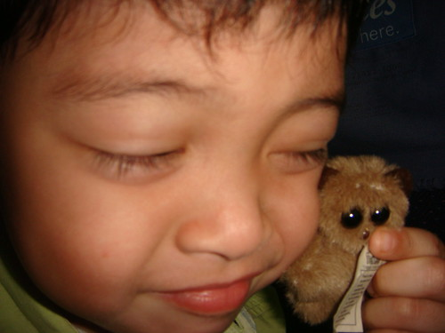 Jake and stuffed tarsier
