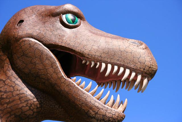 t-rex @ prehistoric gardens