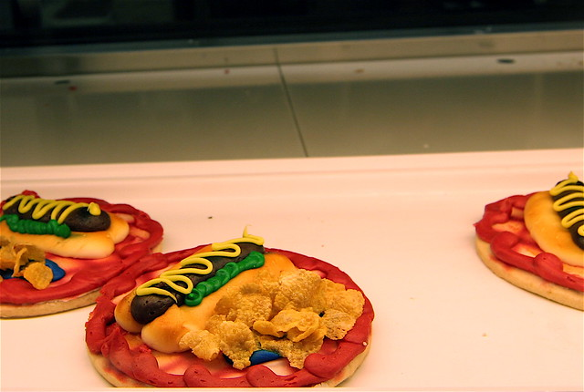 WTF? Poopy hot dog cookies | In the Lunds bakery case. So wr ...