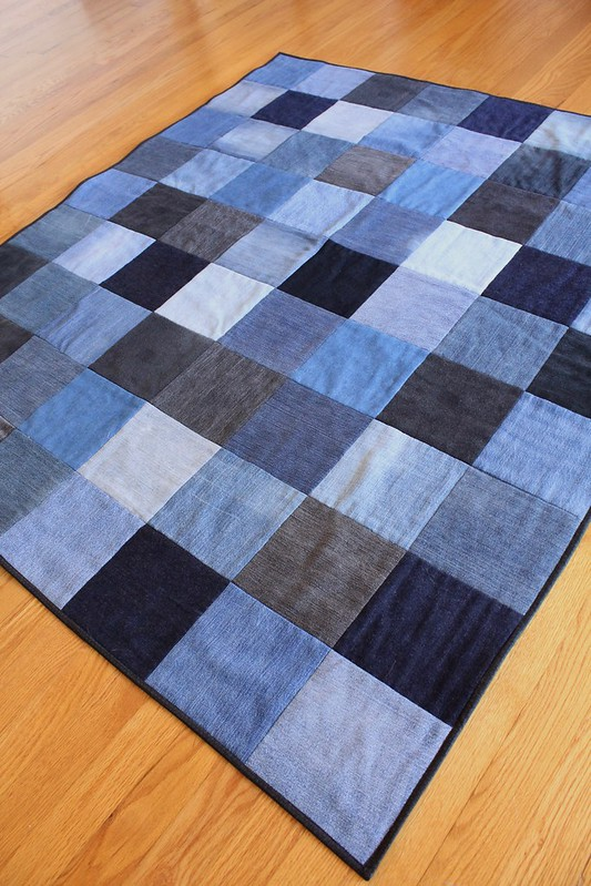 Upcycled Denim Quilt on Etsy