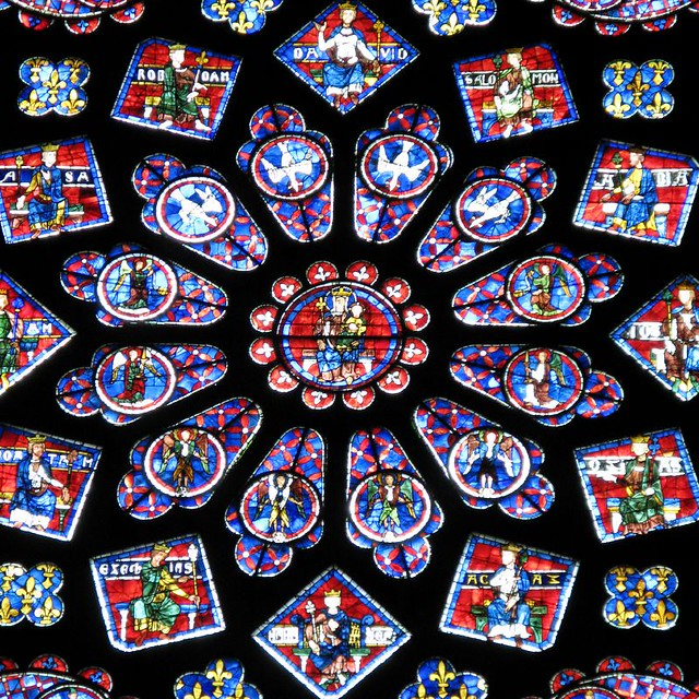 chartres cathedral rose window early 13th century staine