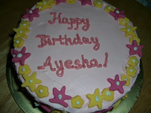Ayesha Name Cake Pics