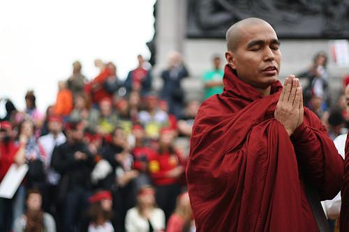 Free Burma Protest, London, Oct 6 - VII
