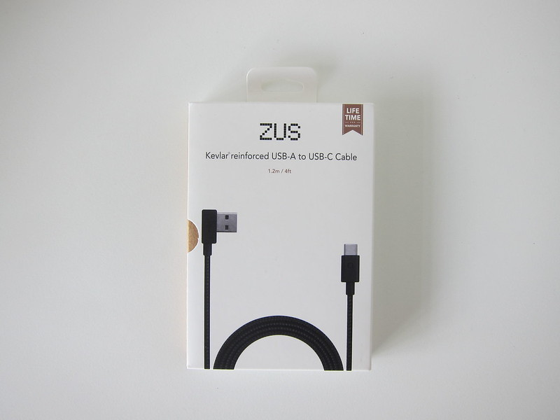 ZUS Super Duty USB-C Cable - Box Front
