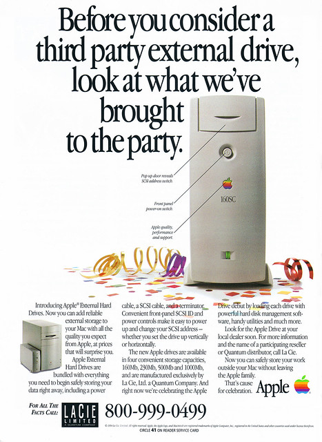 Apple/LaCie external 160SC hard drive ad from MacUser 9/94