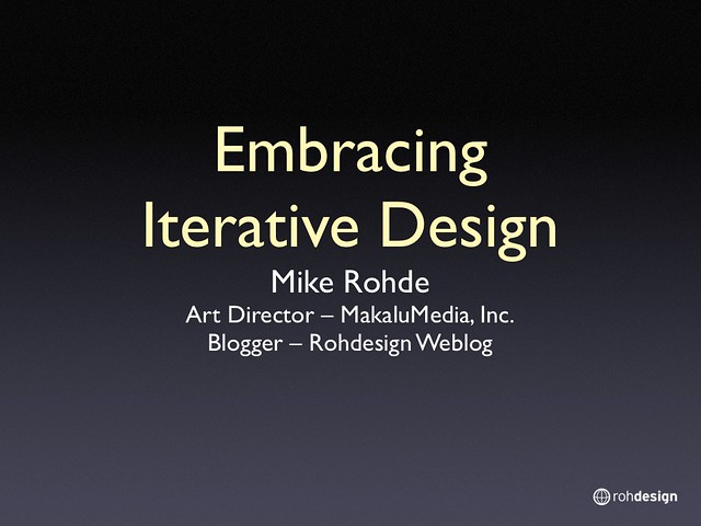 Embracing Iterative Design 001