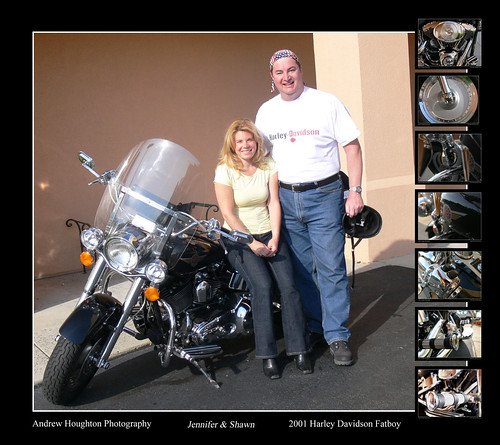 Jennifer and Shawn Harley Davidson Montage